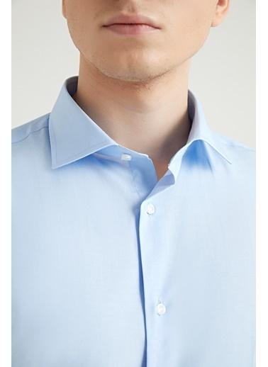 D'S Damat Slim Fit Gömlek Mavi